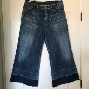 Citizens of Humanity wide leg, crop jeans